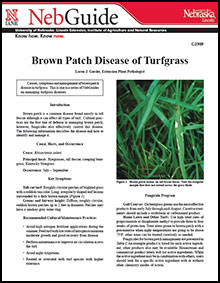 Brown Patch Disease of Turfgrass