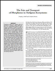 Fate and Transport Phosphorus Turfgrass