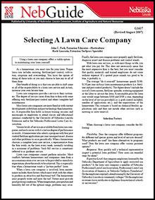 Selecting a Lawn Care Company