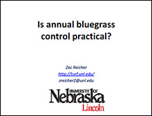 Is annual bluegrass control practical?