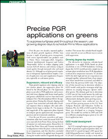 Precise PGR applications on greens