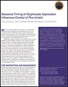 Seasonal Timing of Glyphosate Application Influences Control of Poa trivialis