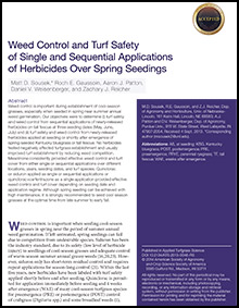 Weed Control and Turf Safety of Single and Sequential Applications of Herbicides Over Spring Seedings